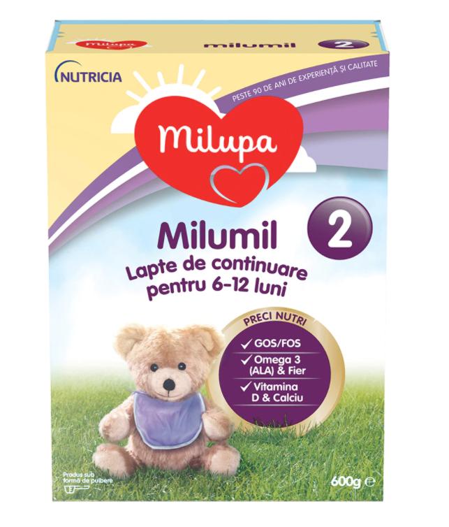Lapte praf Milumil PreciNutri, incepand de la 6 luni, 600 g, Milupa drmax.ro