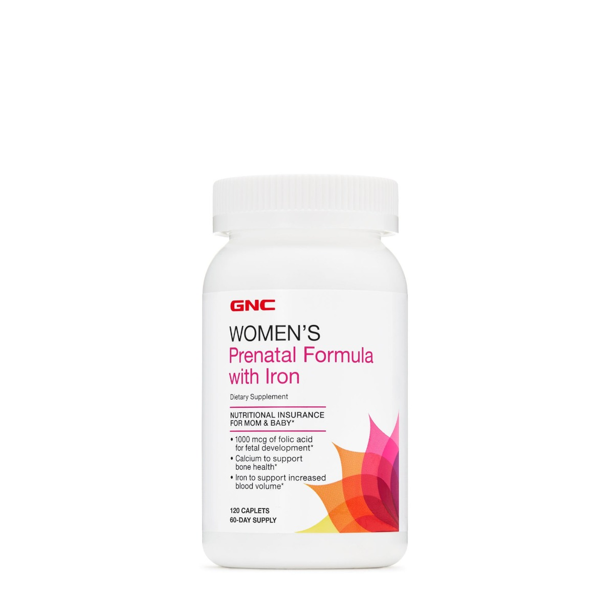 Women's Prenatal Program cu fier, 120 tablete, GNC la preț mic imagine