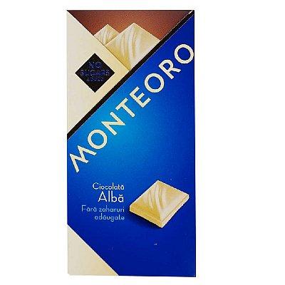 Ciocolata alba fara zahar, 90 g, Monteoro drmax.ro