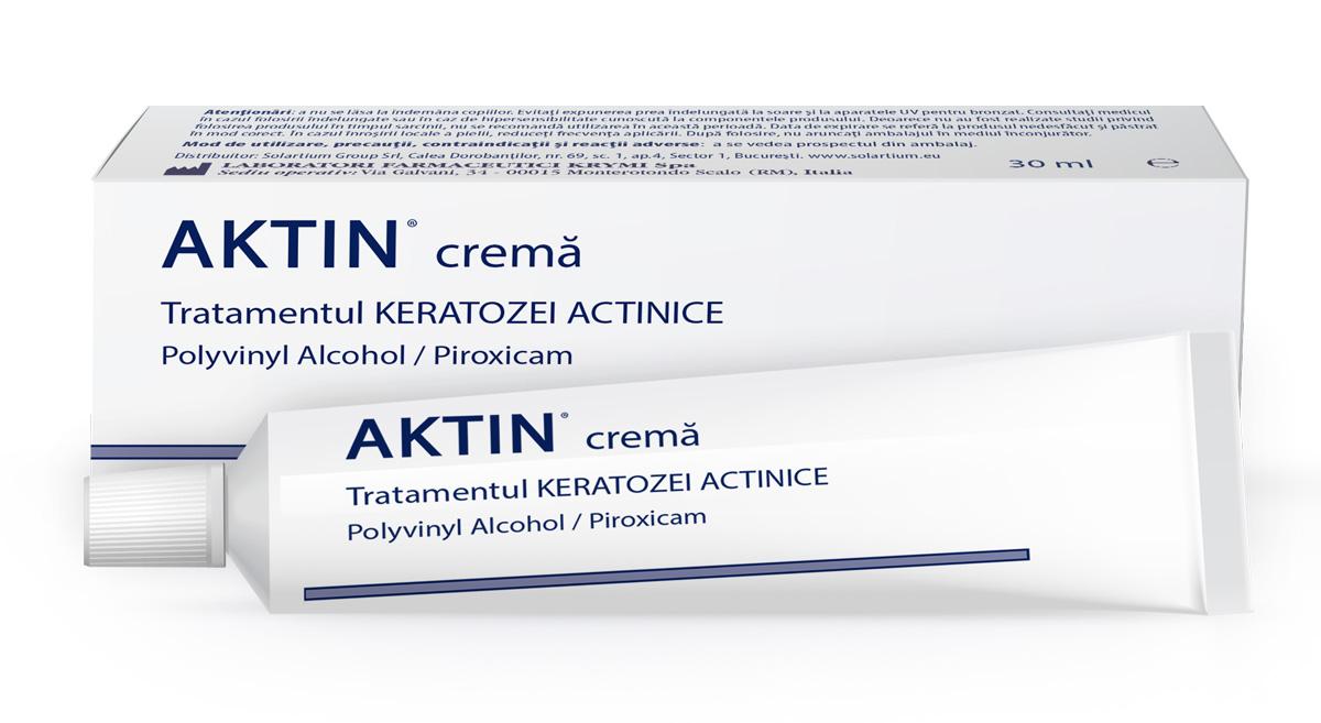 Crema tratament keratoza actinica Aktin, 30 ml, Solartium drmax poza