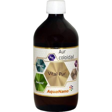 Aur coloidal Vital-Pur 10ppm, 480ml, Aghoras drmax.ro