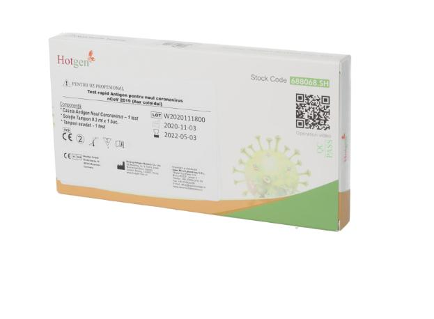 Test rapid Antigen SARS-CoV-2 cu Aur coloidal Hotgen, 1 bucata, Beijing Hotgen Biotech drmax.ro