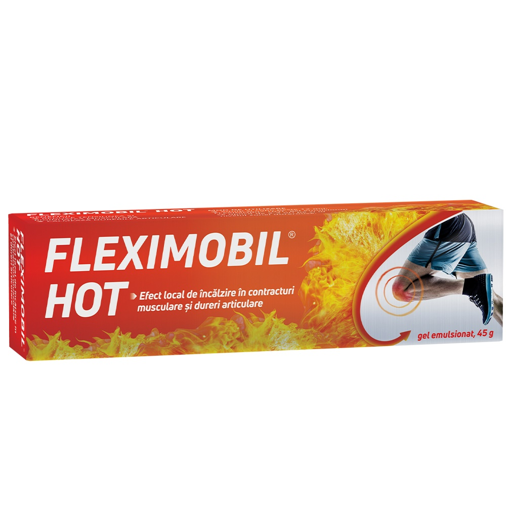 Gel emulsionat Fleximobil Hot, 45g, Flook Ahead imagine produs 2021
