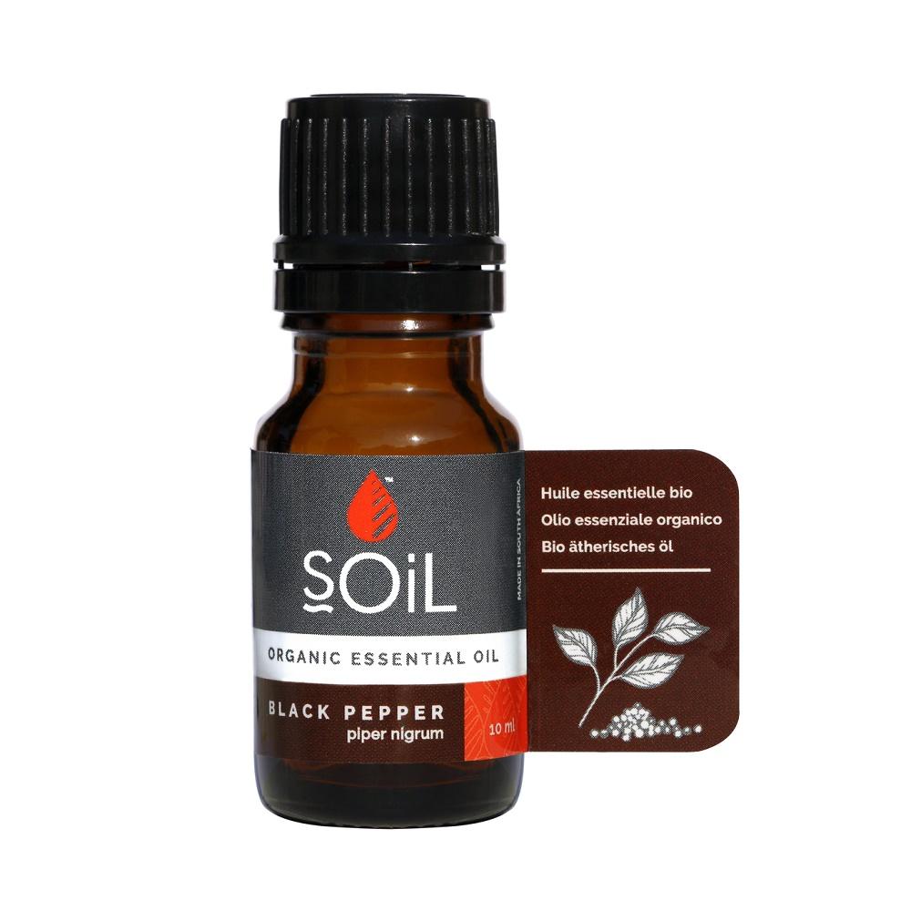 Ulei Esential Piper Negru Pur 100% Organic, 10ml, Soil drmax.ro