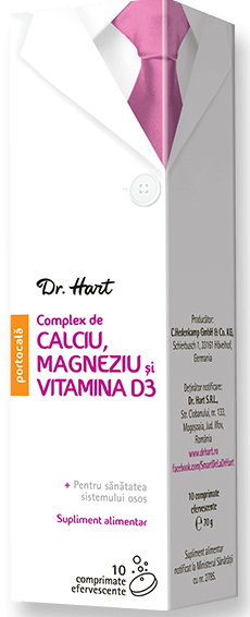 Dr.Hart Calciu, magneziu si vitamin a D3, 10 comprimate efervescente la preț mic imagine
