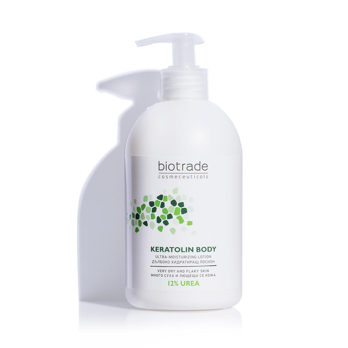 Lotiune pentru corp cu uree 12% Keratolin, 400ml, Biotrade drmax.ro