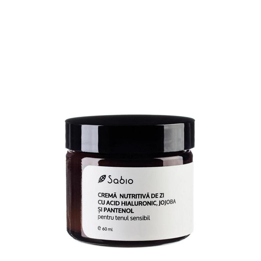 Crema nutritiva de zi cu acid hialuronic + jojoba si pantenol, 60ml, Sabio imagine 2021 drmax.ro