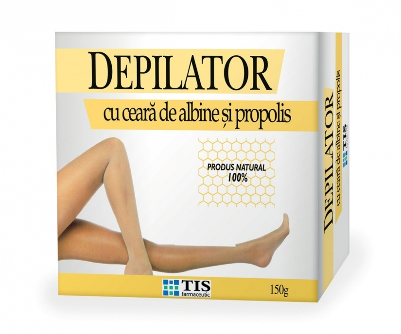 Depilator cu ceara de albine si propolis, 150g, Tis Farmaceutic drmax.ro