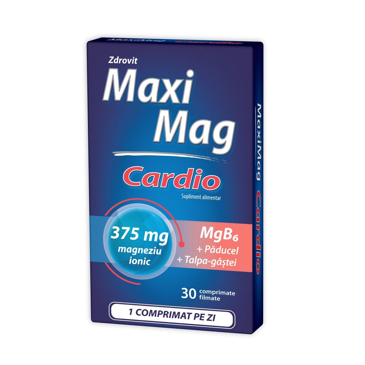 MaxiMag Cardio 375 mg, 30 comprimate, Zdrovit imagine produs 2021