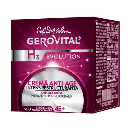 Crema de noapte anti-imbatranire intens restructuranta H3 Evolution, 50ml, Gerovital drmax poza