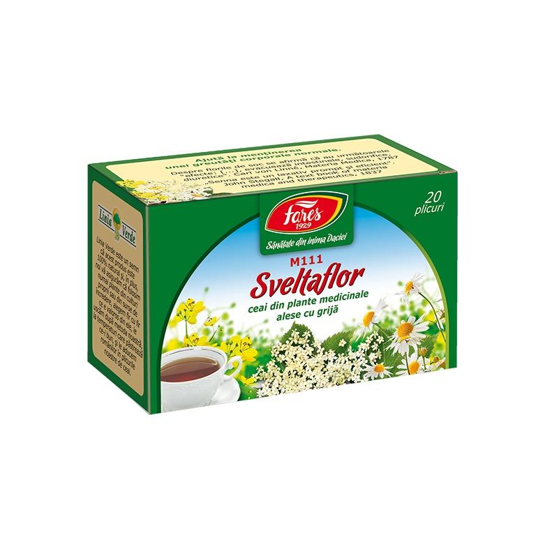 Ceai Sveltaflor, 20 plicuri, Fares drmax.ro