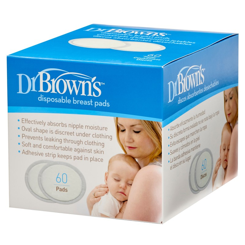 Dischete pentru san de unica folosinta, 60 bucati, Dr. Brown's drmax.ro