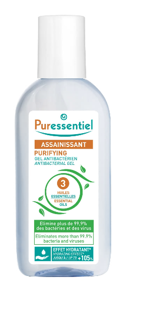 Gel Purifying antibacterian cu 3 uleiuri esentiale, 80ml, Puressentiel drmax.ro
