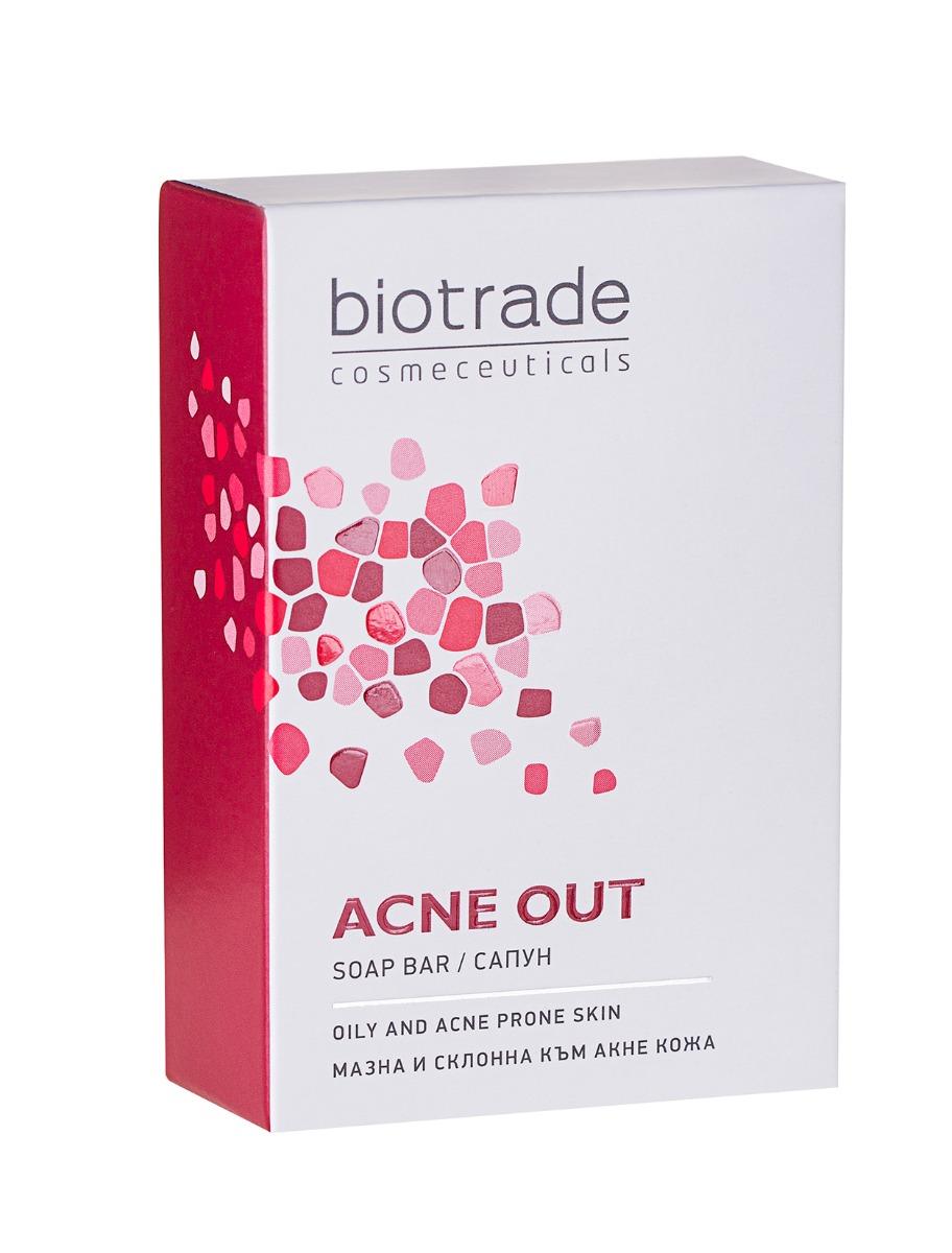 Sapun solid ten gras Acne Out, 100g, Biotrade drmax.ro