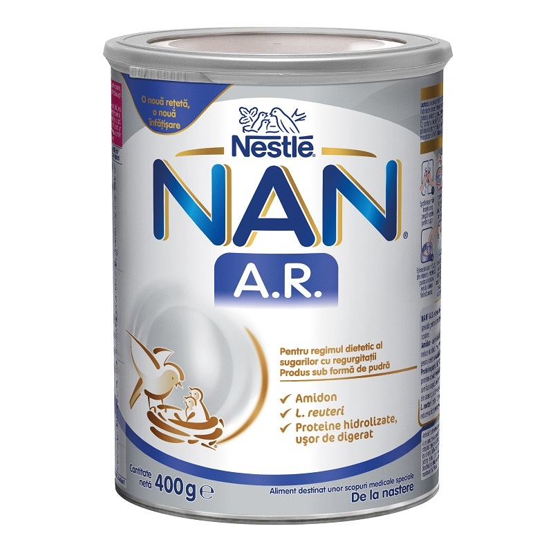 Lapte praf Nan AntiRegurgitare, 400 g, Nestle drmax.ro