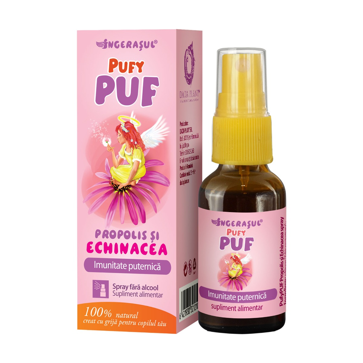 PufyPuf spray propolis si echinacea, 20 ml, Dacia Plant drmax.ro