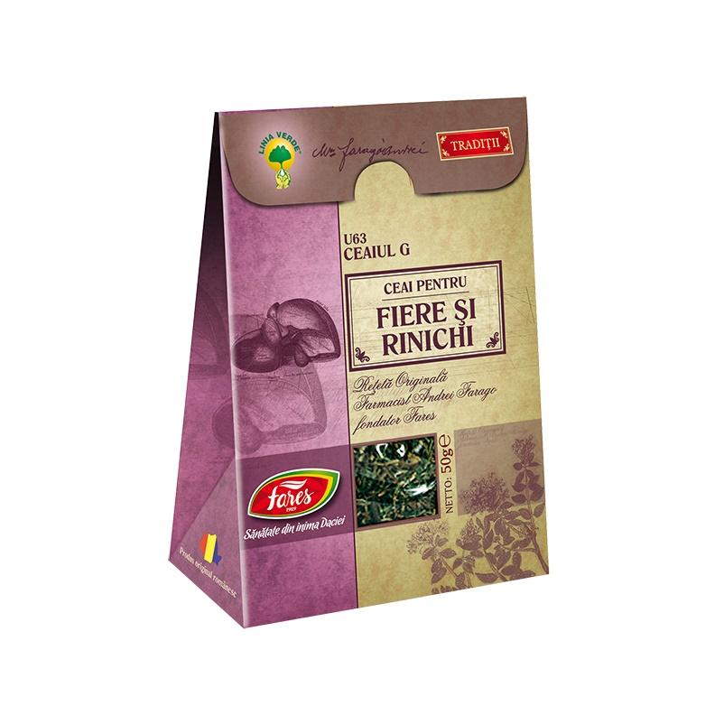 Ceai Fiere si rinichi, 50 g, Fares drmax.ro