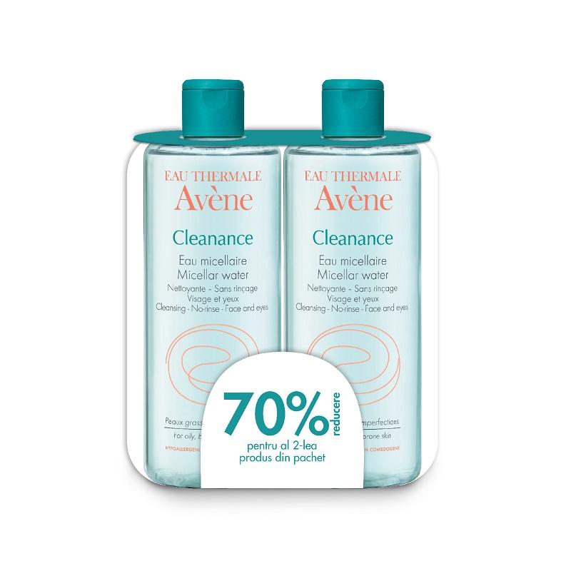 Pachet Cleanance apa micelara, -70% la cel de-al doilea produs din pachet, 400ml, Avene drmax.ro