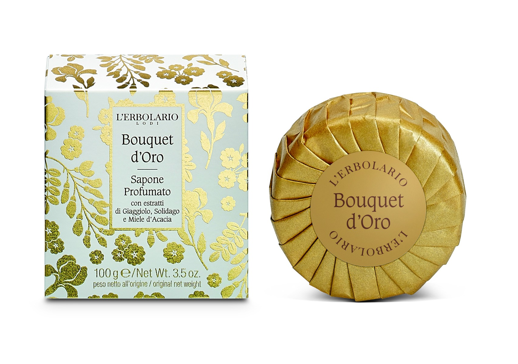 Sapun Parfumat Golden Bouquet, 100g, L'erbolario imagine produs 2021