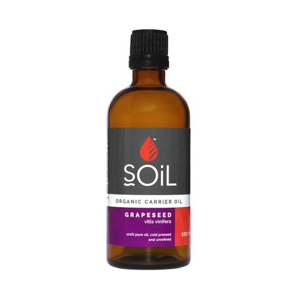 Ulei Baza Grape Seed seminte de struguri 100% Organic ECOCERT, 100ml, Soil imagine produs 2021