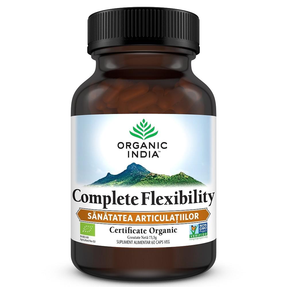 Complete Flexibility Sanatatea Articulatiilor, 60 capsule, Organic India drmax.ro