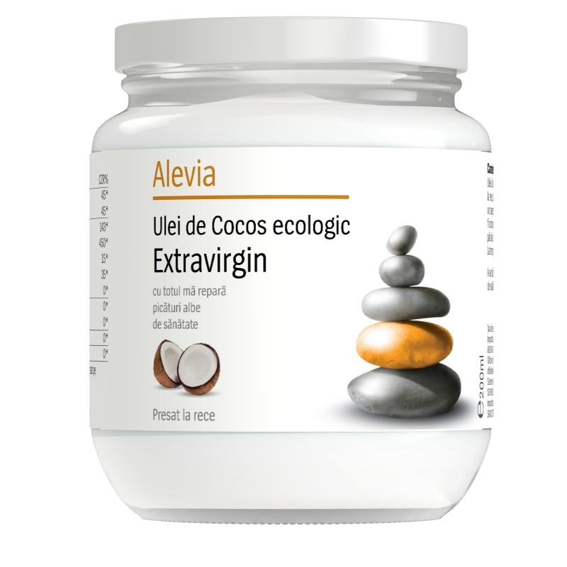 Ulei de Cocos ecologic extravirgin, 200 ml, Alevia imagine produs 2021