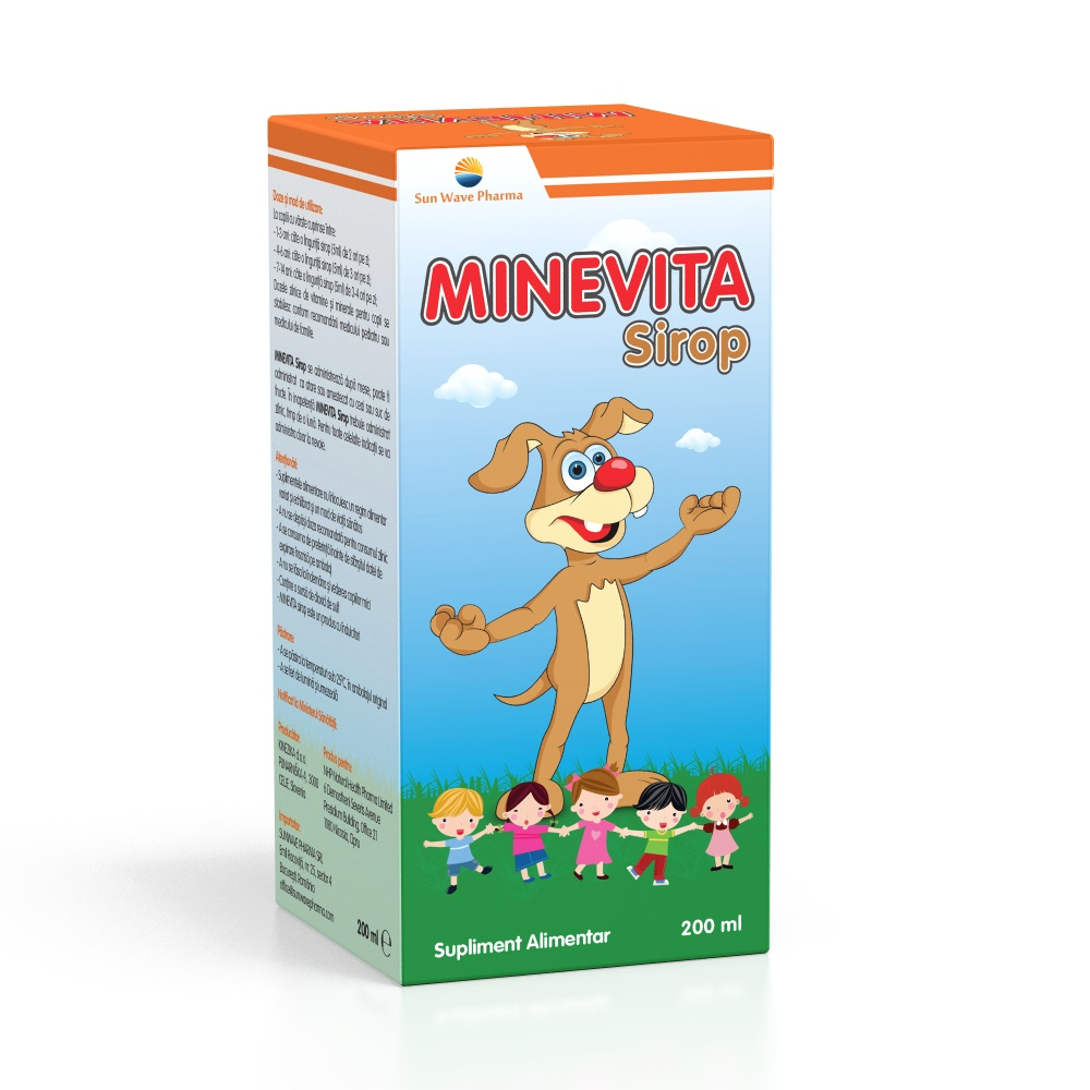 Sirop Minevita, 200 ml, Sun Wave