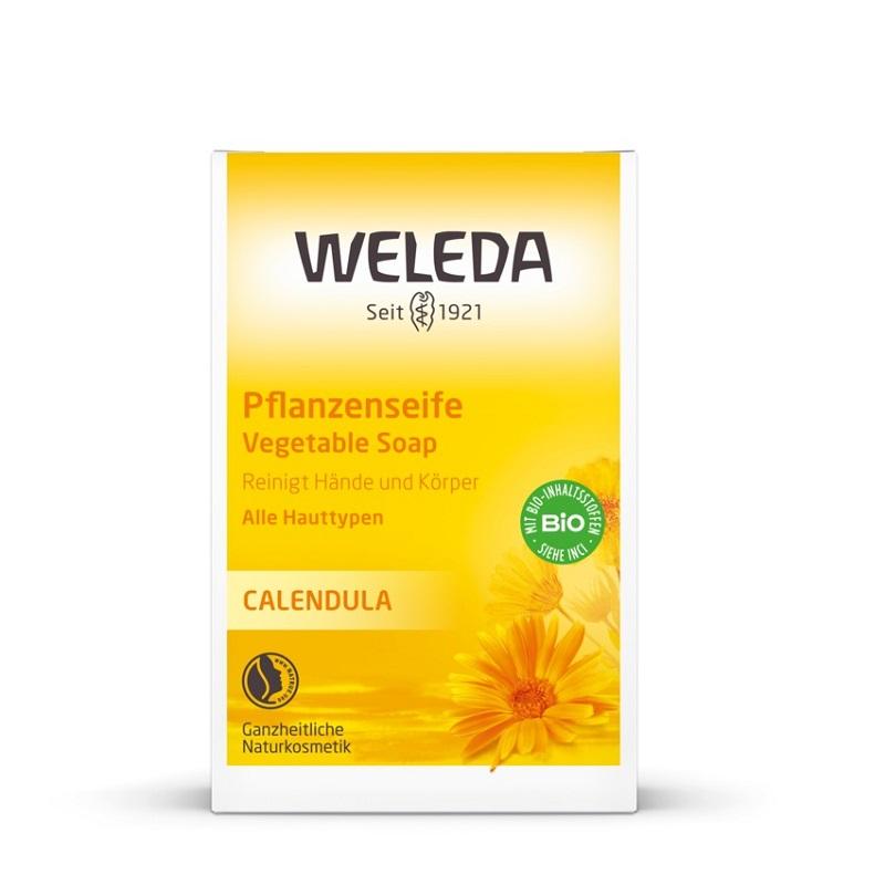 Sapun vegetal cu extract de galbenele Baby, 100g, Weleda imagine produs 2021