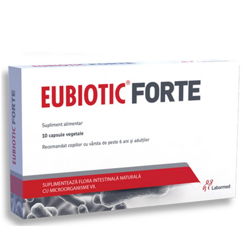Eubiotic Forte, 10 capsule, Labormed imagine produs 2021