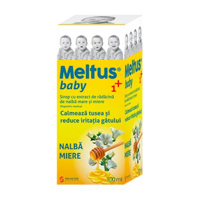 Meltus sirop baby 1+ cu nalba si miere, 100 ml, Solacium drmax.ro