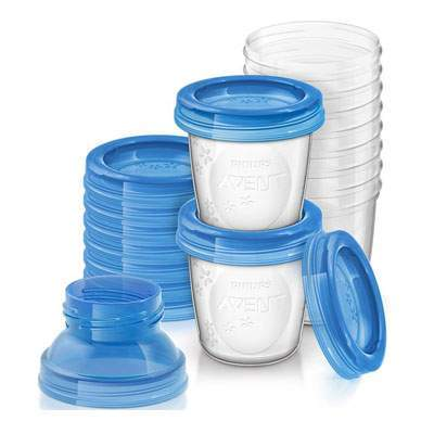 Recipiente pentru stocarea laptelui matern, 10 bucati, Philips Avent imagine produs 2021