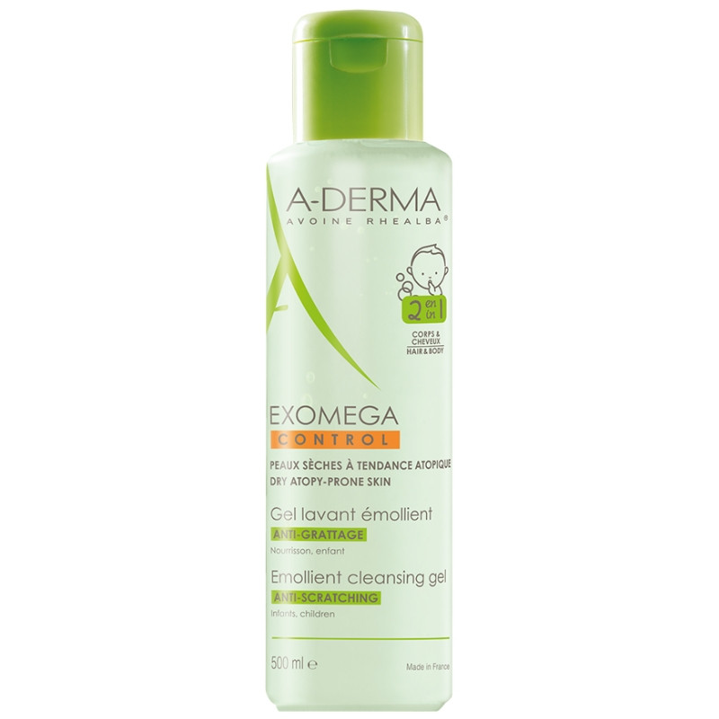 Gel spumant 2 in 1 Exomega Control, 400ml, A-Derma