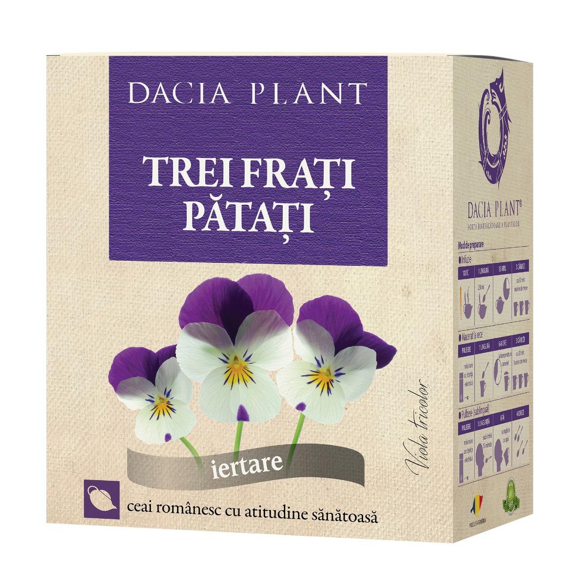 Ceai trei frati patati, 50g, Dacia Plant drmax.ro