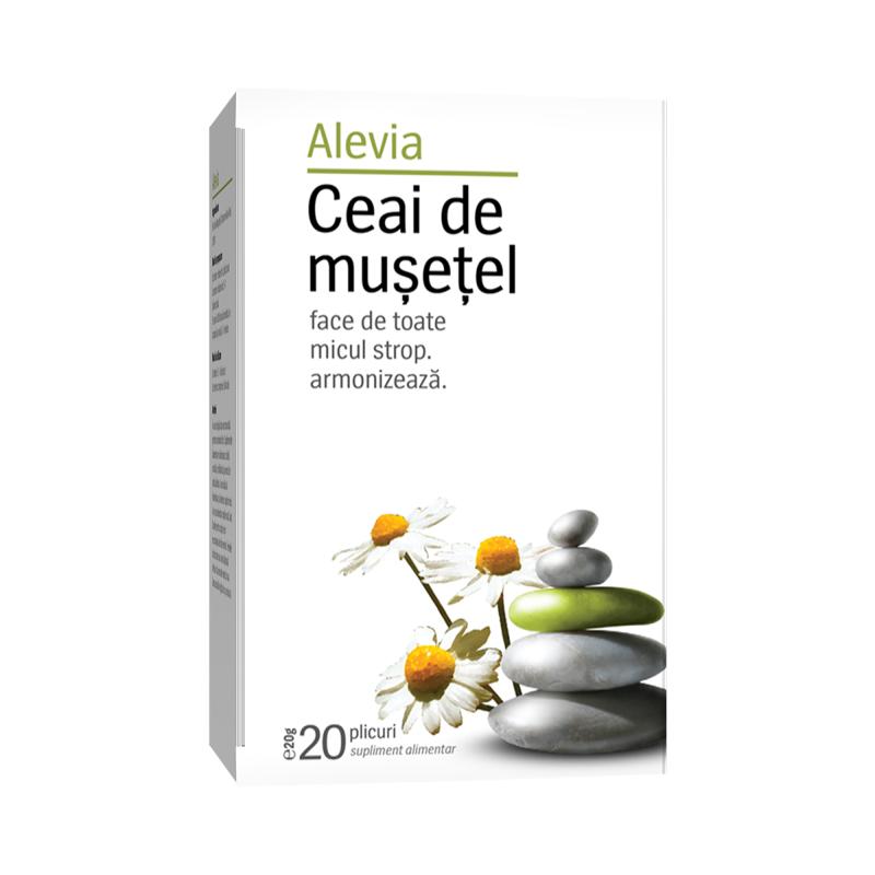 Ceai de musetel, 20 plicuri, Alevia drmax.ro