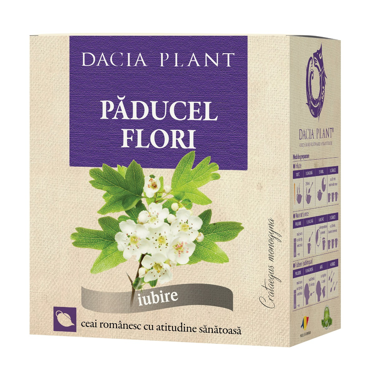 Ceai de paducel flori, 50g, Dacia Plant drmax.ro