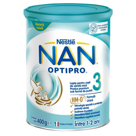 Lapte praf Nan 3 Optipro Premium, incepand de la 12 luni, 400 g, Nestle la preț mic imagine