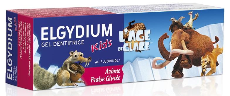 Pasta de dinti Ice Age capsuni, 50 ml, Elgydium drmax.ro