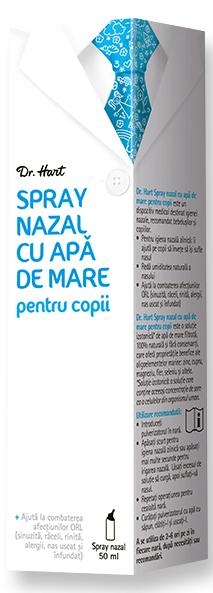 Dr.Hart Spray cu apa de mare pentru copii, 50 ml drmax poza