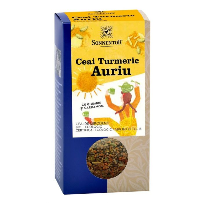 Ceai Bio Turmeric Auriu, 120g, Sonnentor drmax.ro