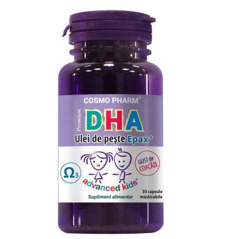 DHA Premium pentru copii, 30 capsule masticabile, Cosmopharm drmax.ro