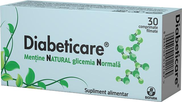Diabeticare, 30 comprimate, Biofarm drmax poza