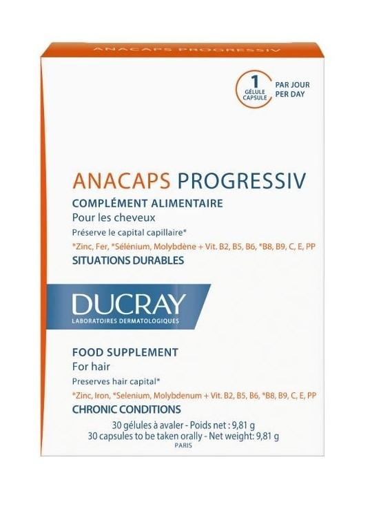 Anacaps Progressiv pentru par, 30 capsule, Ducray drmax poza