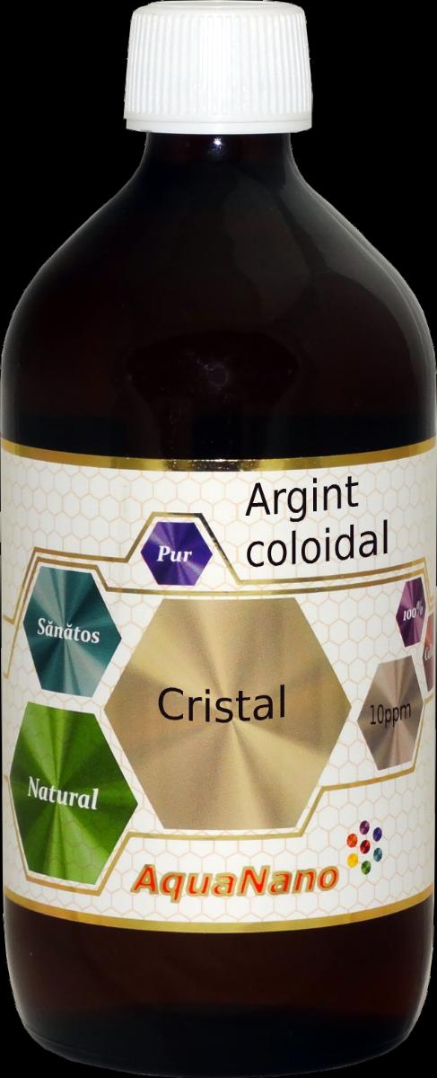 Argint Coloidal Cristal (incolor) Aquanano, 480ml, Aghoras drmax.ro