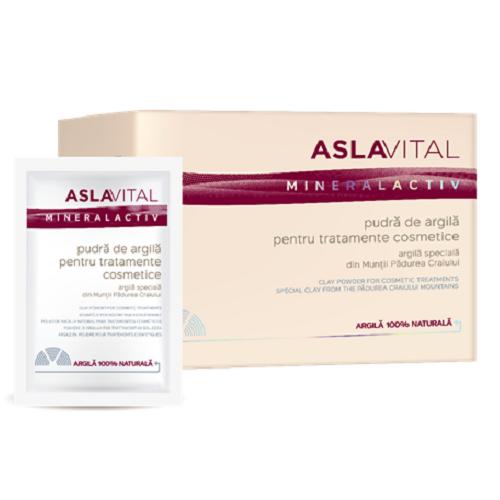 Pudra de argila pentru tratamente cosmetice, 10 plicuri x 20g, AslaVital imagine produs 2021