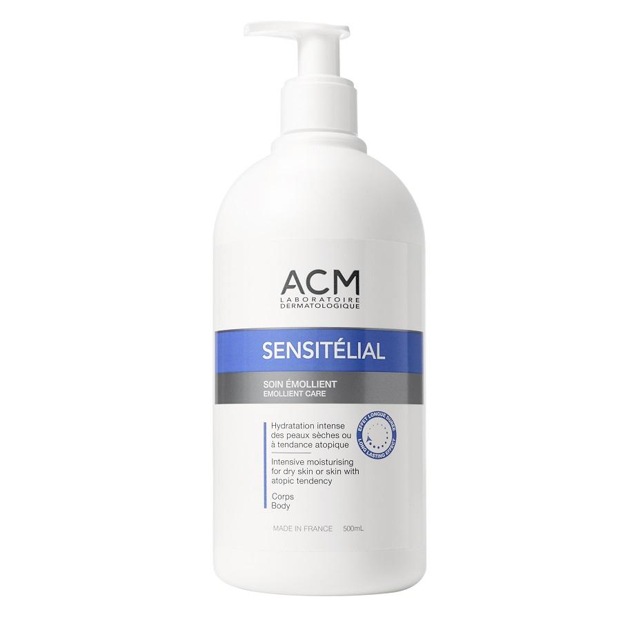 Crema emolienta pentru hidratare intensiva Sensitelial, 500ml, ACM drmax.ro