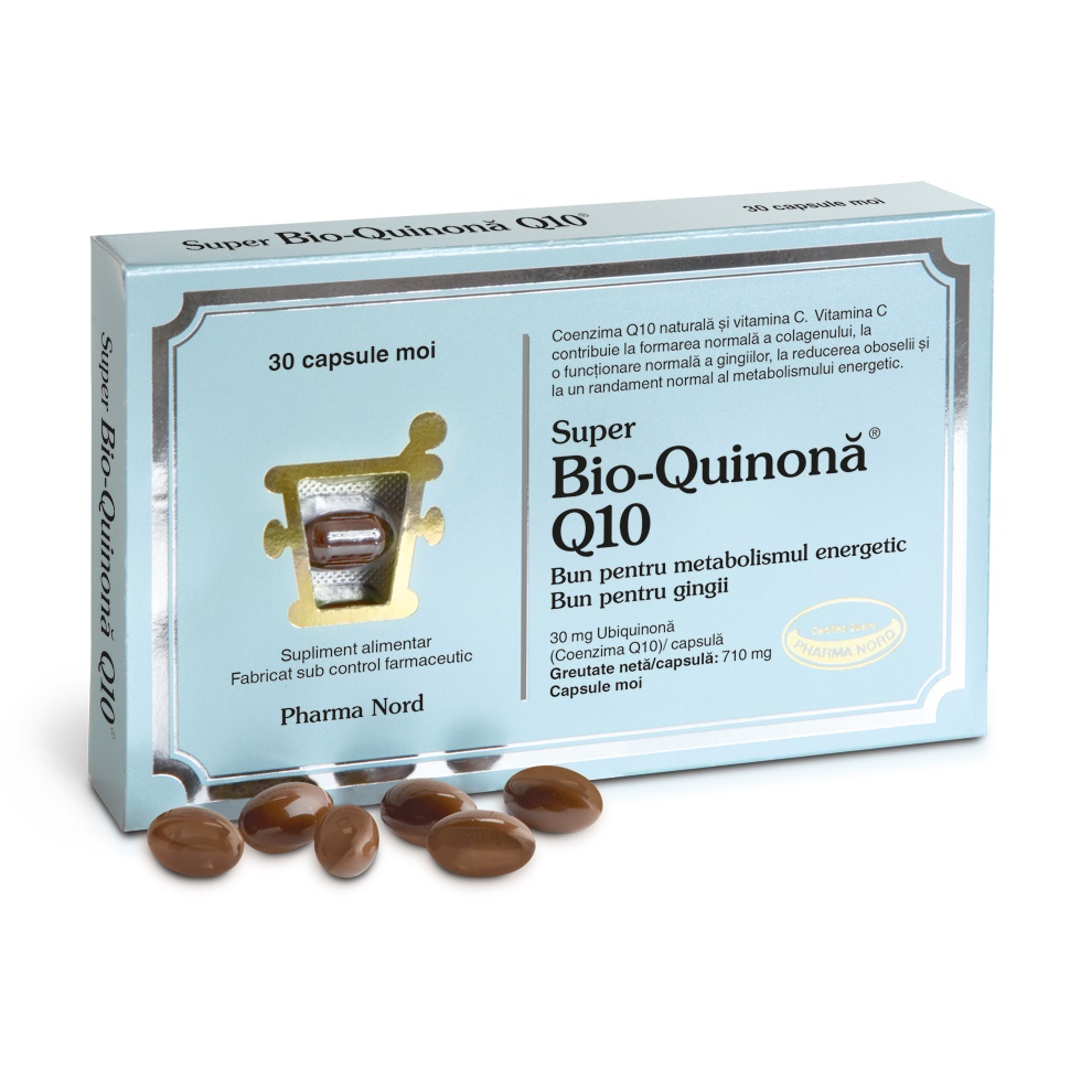 Bio-Quinona Q10 30 mg, 30 capsule, Pharma Nord drmax.ro