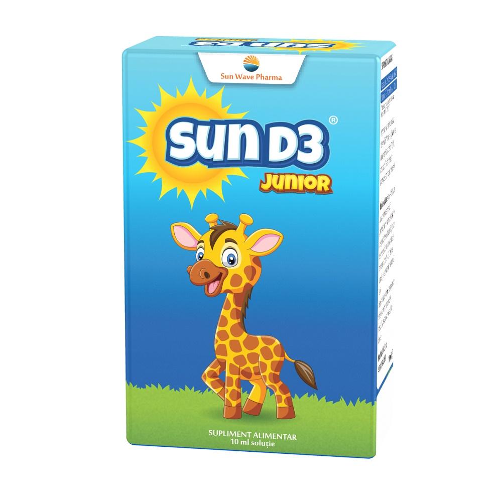 Sun D3 Junior picaturi, 10ml, Sun Wave Pharma imagine produs 2021