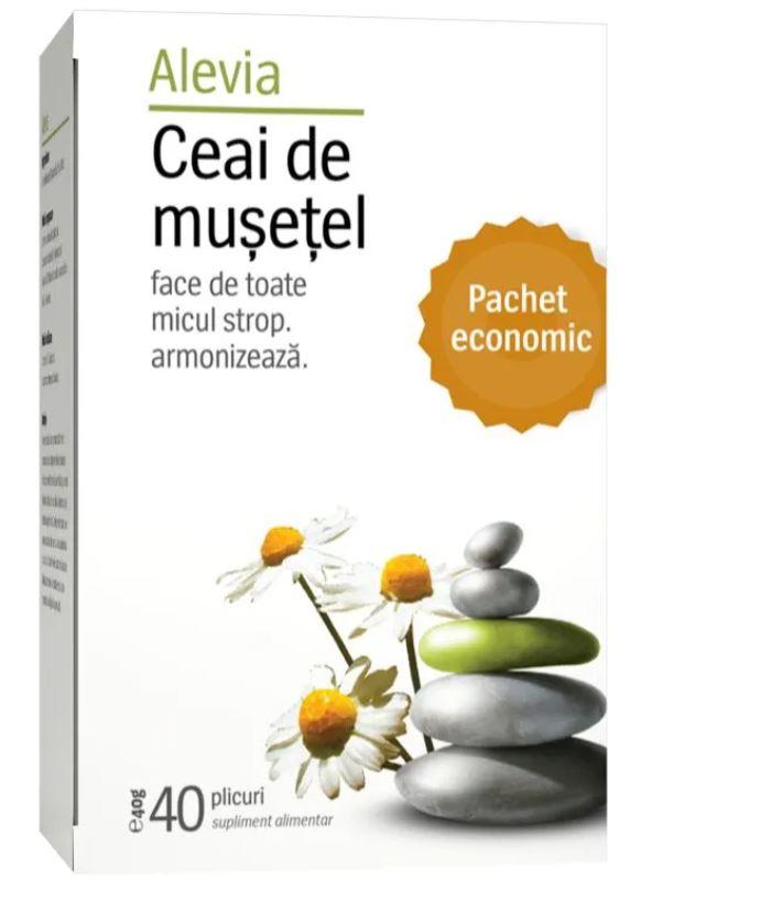 Ceai de musetel, 40 plicuri, Alevia imagine produs 2021