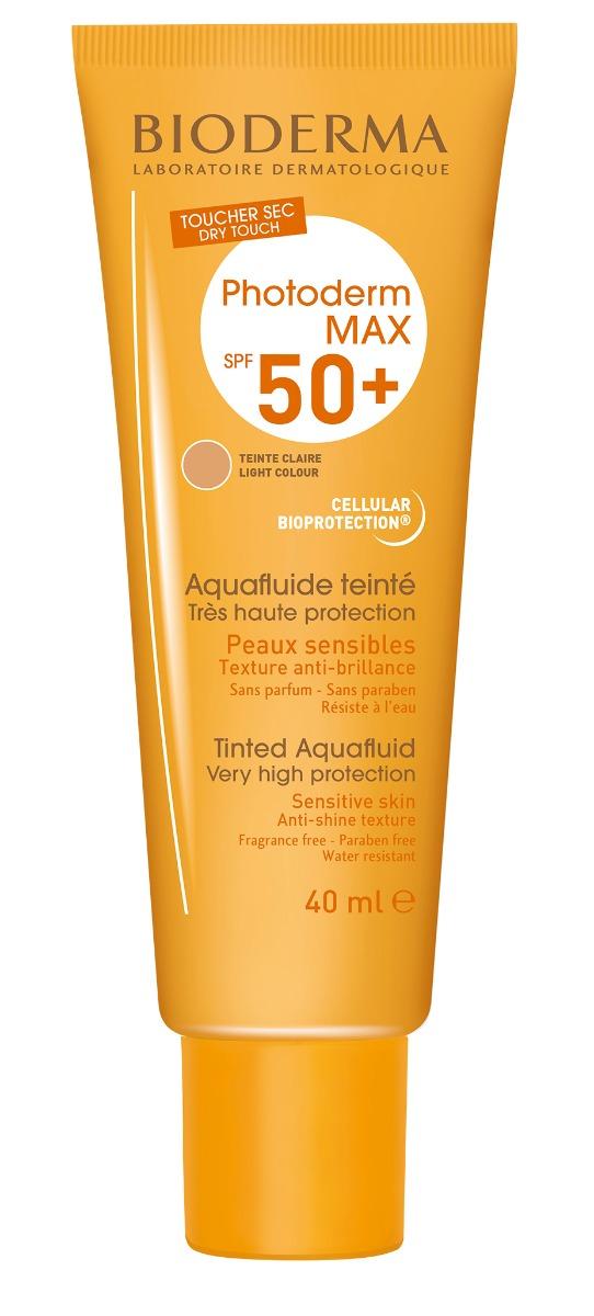 Protectie solara SPF 50+ Photoderm MAX Aquafluide Claire, 40ml, Bioderma drmax.ro