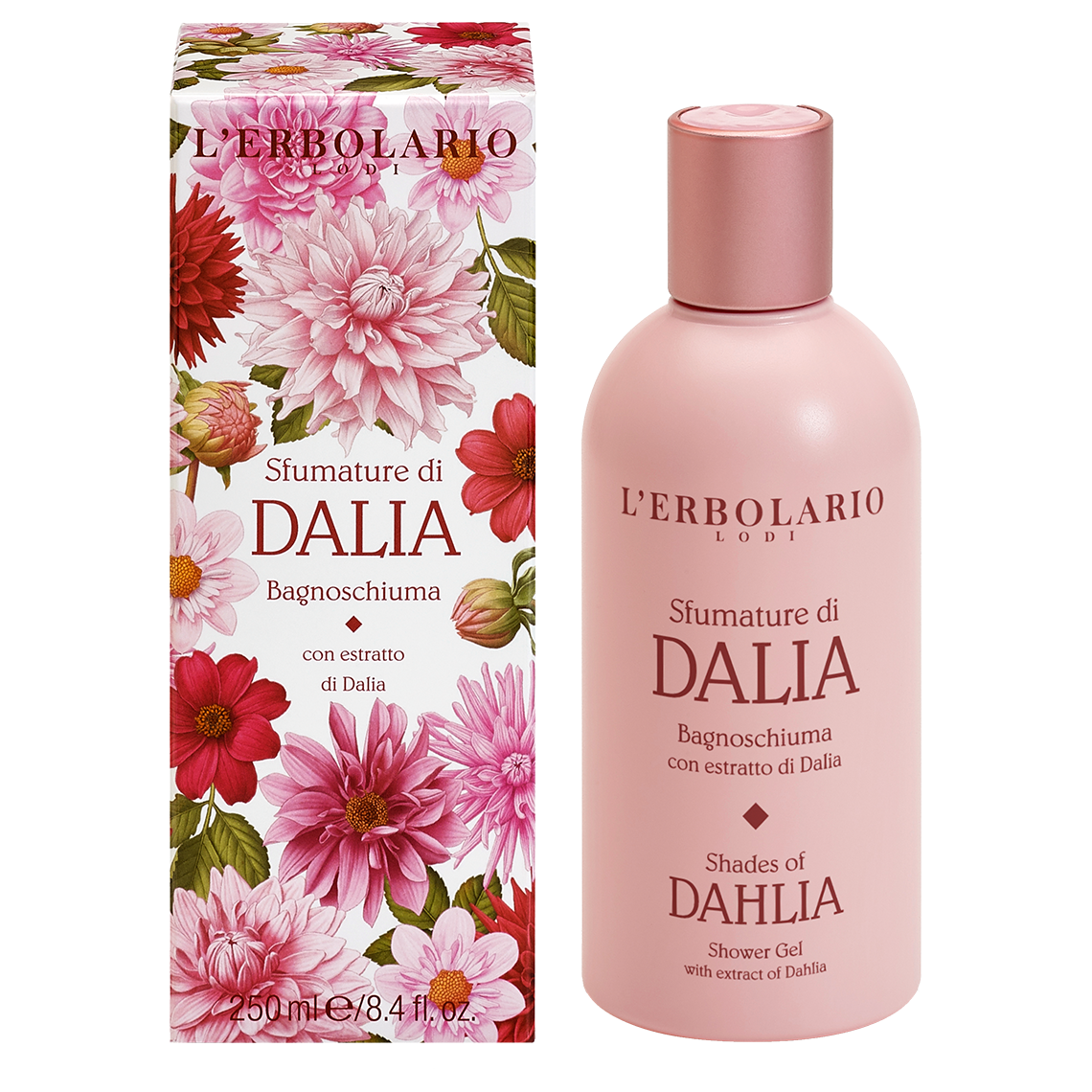 Gel de dus Shades of Dahlia, 250ml, L'Erbolario imagine produs 2021